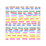 Colorful dotted line pattern. On white background Royalty Free Stock Images