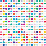 Colorful dotted seamless pattern Royalty Free Stock Image