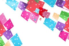 Colorful dotted squares overlap, abstract background Stock Photo