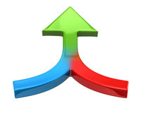 Colorful double arrow Royalty Free Stock Photo