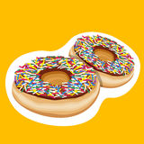 Colorful doughnuts Stock Image