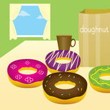 Colorful doughnuts. Stock Photography