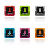 Colorful download buttons Stock Photos