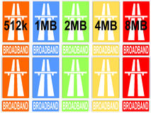 Colorful download speeds Royalty Free Stock Photography