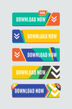 Colorful download web button. Modern flat design Stock Photo