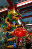 Colorful dragon in chinese temple stock photography