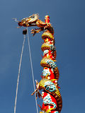 Colorful dragon column at Chinese shrine royalty free stock image