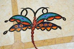 Colorful dragon-fly mosaic Royalty Free Stock Image