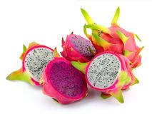 Colorful dragon fruit Royalty Free Stock Images