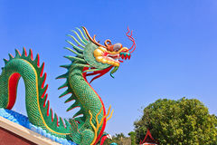 Colorful of Dragon head Stock Photography