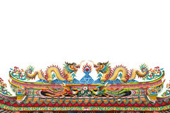 The colorful dragon made from ceramic tail Royalty Free Stock Photo