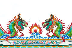 The colorful dragon made from ceramic tile Royalty Free Stock Photos