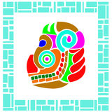 Colorful dragon in native style Royalty Free Stock Photos