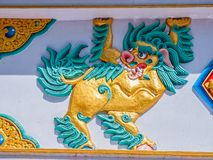 Colorful dragon relief in Dharamsala Royalty Free Stock Photo