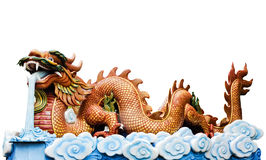 Colorful dragon sculpture Royalty Free Stock Photography