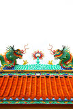Colorful dragon statue Royalty Free Stock Images