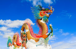 Colorful dragon statue Stock Images