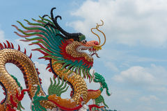 Colorful dragon statue Stock Image