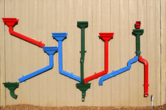Colorful Drain Pipes Stock Image