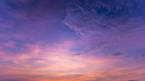 Colorful dramatic sky with cloud at sunset.Sky with sun backgrou Stock Photo