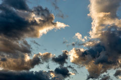 Colorful dramatic sky with clouds Stock Photography