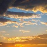 Colorful dramatic sunset. Stock Photos