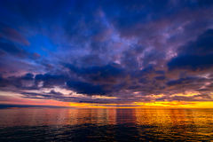 Colorful dramatic sunset above Glenelg Beach Royalty Free Stock Photo