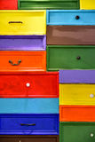 Colorful drawers Stock Images