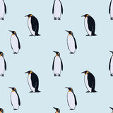 Colorful Drawing Arctic Fauna Seamless Pattern Royalty Free Stock Photography