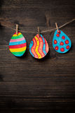 Colorful drawing of Easter eggs Stock Photography