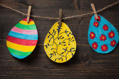 Colorful drawing of Easter eggs Royalty Free Stock Image