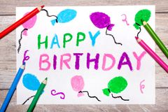 Colorful drawing: Happy Birthday Card
