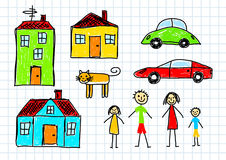 Colorful drawings Stock Images
