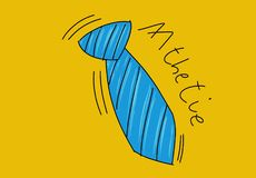 A striped tie an animated world Colorful drawings in pop art style. Colorful drawings in pop art style stock illustration