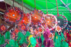 Colorful of dream catcher Stock Photos