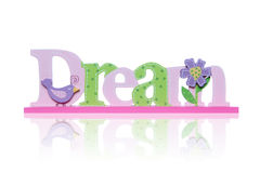 Colorful Dream Sign Royalty Free Stock Photography
