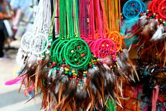 Colorful dreamcatchers Stock Photography