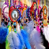 Colorful dreamcatchers Royalty Free Stock Photos