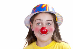 Colorful dressed child, holiday clown Royalty Free Stock Images