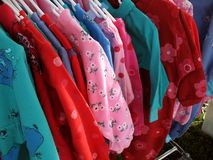 Colorful Dresses. Photo of colorful dresses for sale stock photo