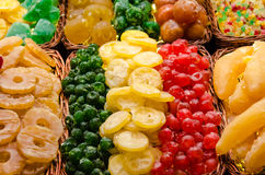 Colorful dried fruits Stock Images