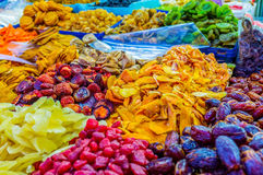 The colorful dried fruits Stock Images