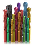 Colorful drill bits Royalty Free Stock Images
