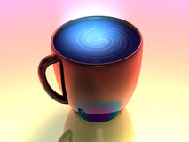 Colorful drink in cup Stock Images