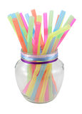 Colorful drink straw tubs Royalty Free Stock Photos