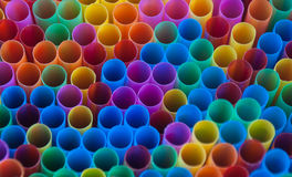 Colorful drink straws. Royalty Free Stock Photos