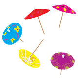 Colorful drink umbrellas Royalty Free Stock Photography