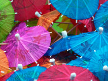 Colorful Drink Umbrellas Royalty Free Stock Image