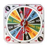 colorful spinner drinking board game Stock Images