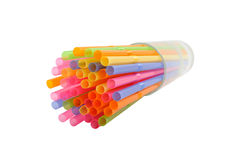 Colorful drinking straw Stock Photography